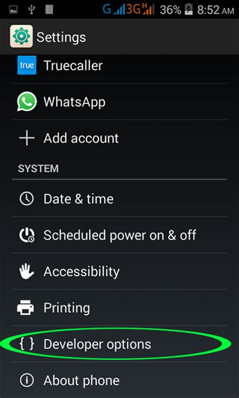 developer options apk enable usb debugging mode on android mobile phone android exles