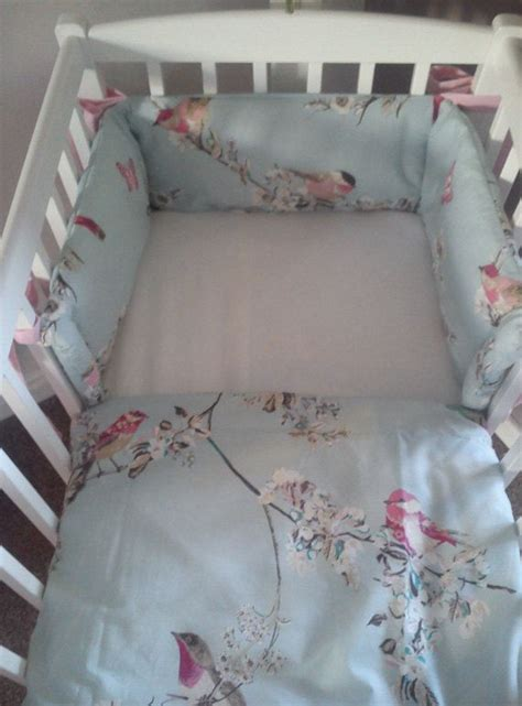 Vintage Style Crib Bedding by Vintage Style Bird Budgie Cot Cot Bed Mini Crib By