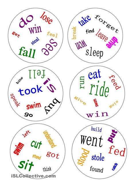 irregular past tense verb cards organized by pattern of change 348 best images about teaching verbs on pinterest anchor