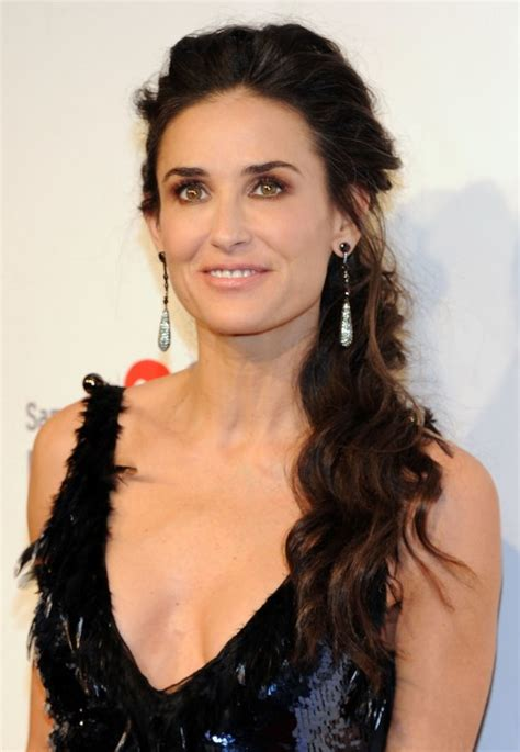 ponytail after 60 demi moore loose ponytail hairstyle for women over 50