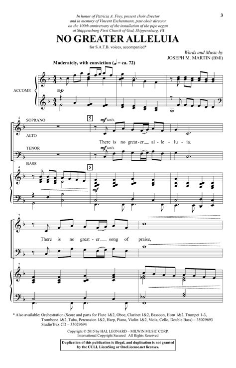 printable lyrics to nobody greater no greater alleluia choral satb sheet music by by joseph m