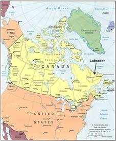 map of labrador canada labrador maps