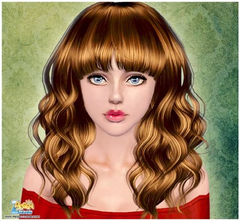 long hair with bangs sims2 curly long hair with bangs id 886 by peggy zone sims 3 hairs