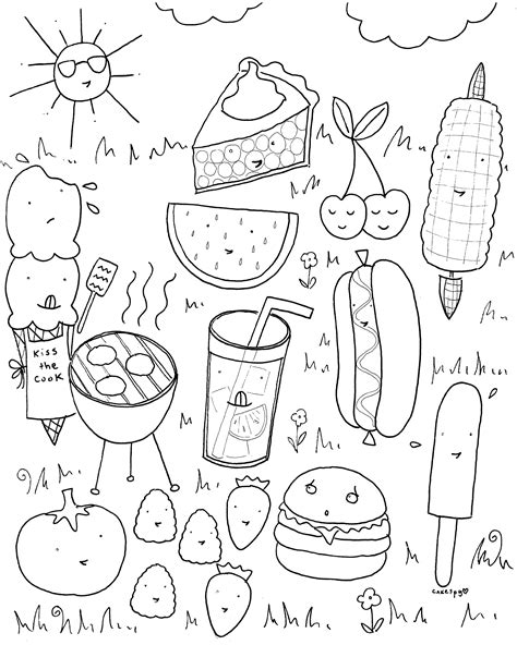 coloring pages for adults food free downloadable summer fun coloring book pages