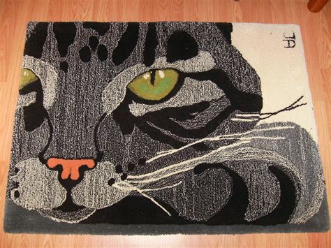 cat area rug rug kitten cat rug thick and soft 100 wool