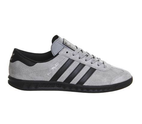 Adidas Grey lyst adidas originals hamburg suede and leather low top