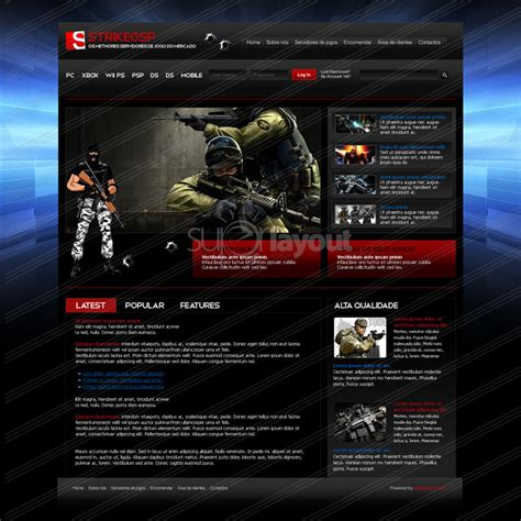 game website layout game website design by superlayout on deviantart