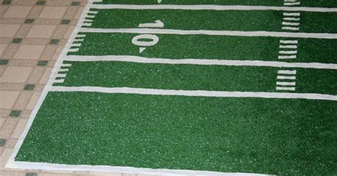 How To Make A Football Field Out Of Paper - how to make a football field rug out of outside carpet