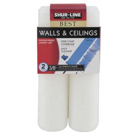 Shur Line Walls Ceilings Roller Cover 3 8 Quot Nap 2pk Walmart Ceiling Paint