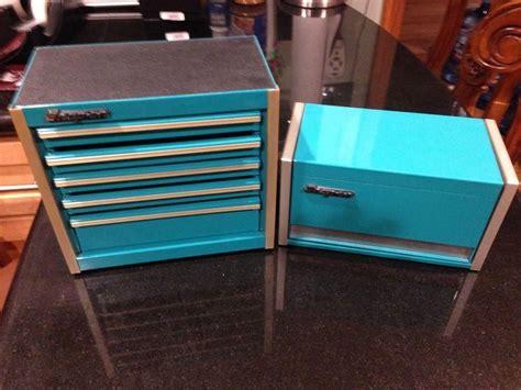 snap  teal mini micro tool box set top chest  bottom