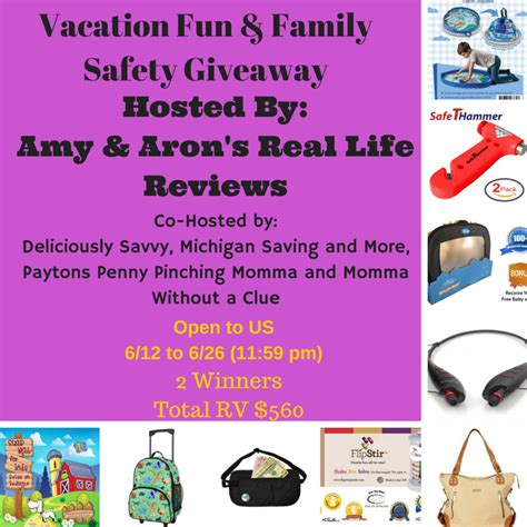 Safety Giveaways - vacation fun family safety giveaway vffsgiveaway amy aron s