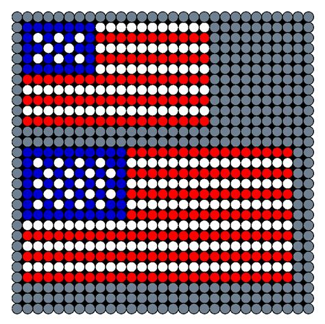 perler bead small patterns american flag small and medium perler bead pattern bead