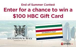 Hbc Gift Card - contest 100 hbc gift card