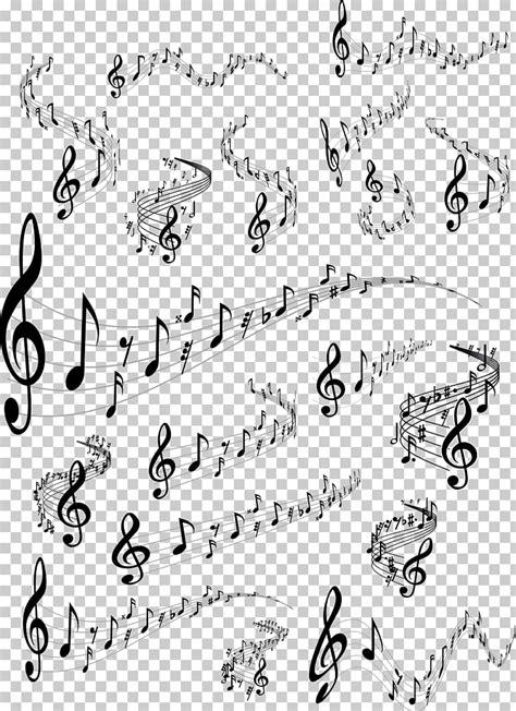 Ilustración de notas musicales, patrón de área de ángulo