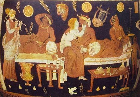 banchetto romano simposio all interno banchetto nell et 224 greca arcaica