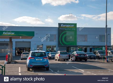 europcar car rentals  dublin airport ireland stock photo