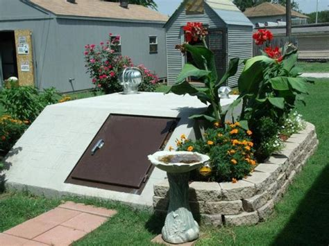 backyard tornado shelter 16 best landscape ideas for storm shelters images on