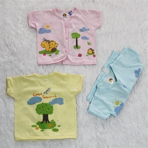 Baju Bayi 1 Lusin 1 Lusin Model Atasan Warna Lengan Pendek Bpkw1 Grosir