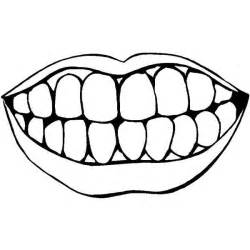 Coloring Page Mouth With Teeth Template And sketch template