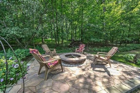 rustic firepit rustic patio with firepit pit in elm grove wi
