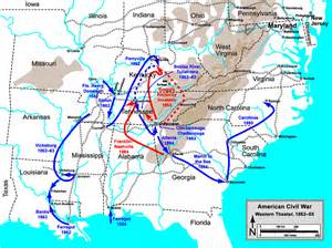 Western theater of the american civil war map gif