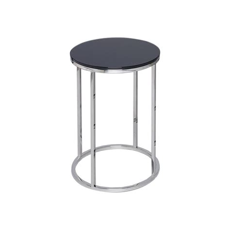 silver metal side table buy black glass and silver metal side table from fusion living