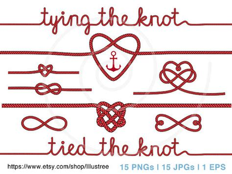 Wedding Knot Clipart by Wedding Clipart Tying The Knot Anchor Digital Clip