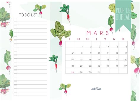 Calendrier 9 Mars Calendrier Mars Milk With Mint