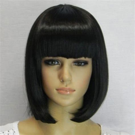 chinese bang wig black hair 2015 chinese best black short synthetic bobo wig wigs with