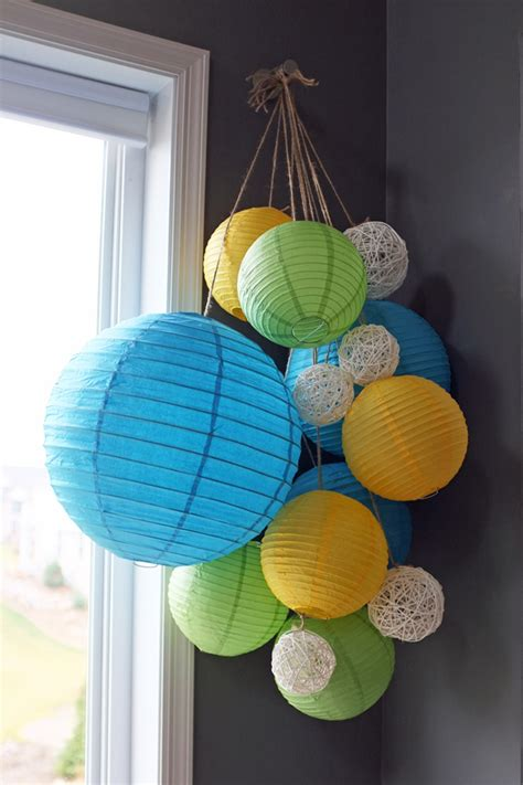Paper Lantern Chandelier Bug Decorations And Food Teal And Lime By Jackie Hernandez