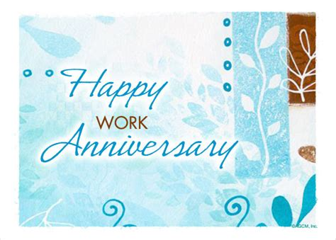 happy work anniversary card template 9 work anniversary cards free sle exle format