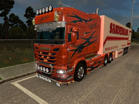 scania rjl all chassis 2 skins ets2 mods