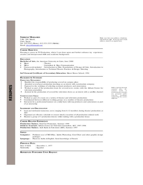 resume or cv exles chronological resume resume cv template chronological