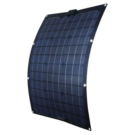 solar panel curtains nature power 50 watt semi flex monocrystalline solar panel
