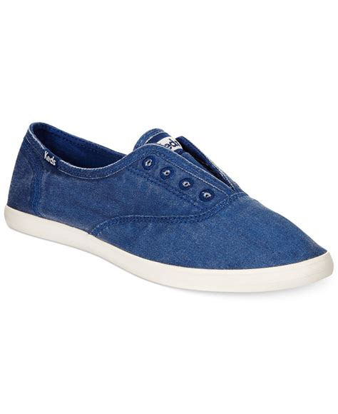 s laceless sneakers keds s chillax slip on laceless sneakers in blue lyst