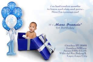 1st birthday invitation card free boronganon invitation card on marc s 1st birthday