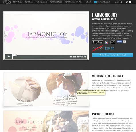 fcpx wedding templates pixel studios announced the release of harmonic