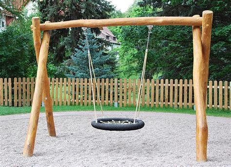 Nest Swing 250 Made Of Robinia Wood Ziegler Spielpl 228 Tze