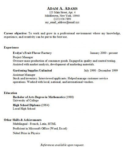 Basic Resume Exles Copy And Paste Basic Resume Generator Middletown Thrall Library