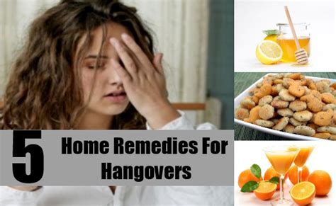 5 best home remedies for hangovers treatments