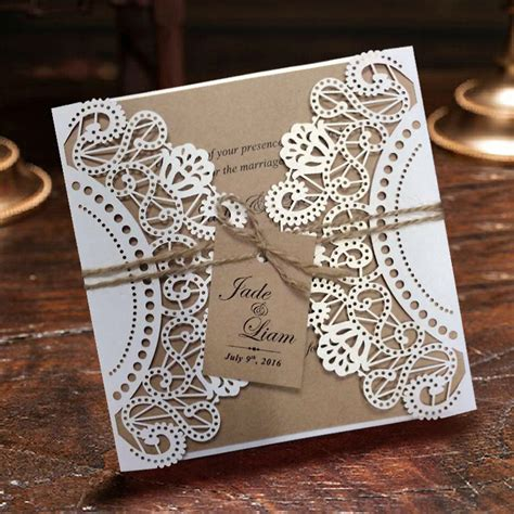 Wedding Invitation Cards Aliexpress aliexpress buy wedding invitation white lace