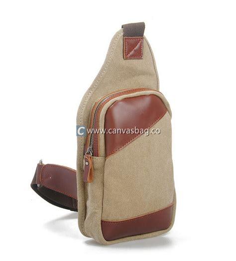 Fancyqube Canvas Chest Bag Kahki canvas chest pack chest bag canvas bag leather bag