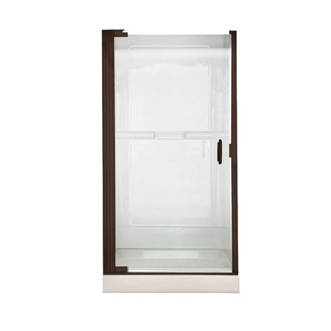 Pivot Glass Shower Doors American Standard 36 In X 65 In Semi Framed