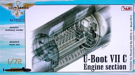 types of boats with engines cmk 1 72 u boat type viic engine section n72003
