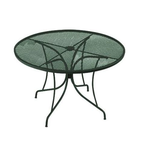 Wrought Iron Patio Dining Table Wrought Iron Green Patio Dining Table Discontinued W3929 44 Gr The Home Depot