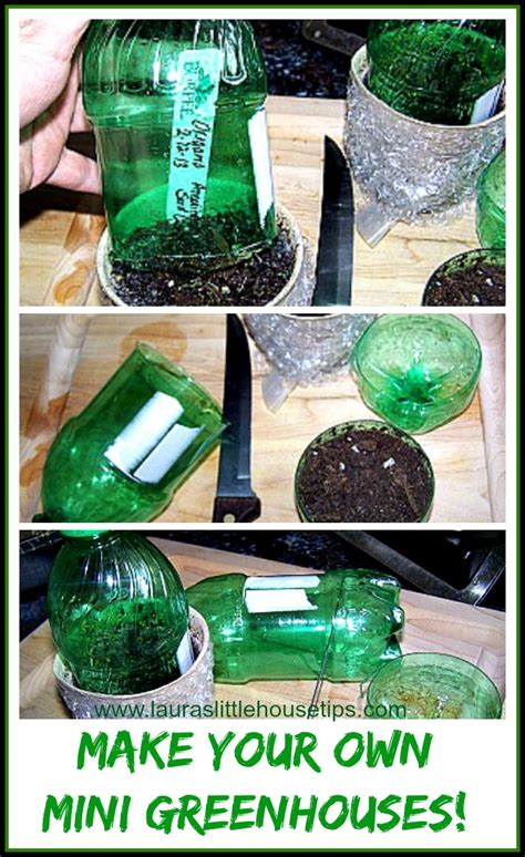 make your own mini greenhouses diy for seedlings laura