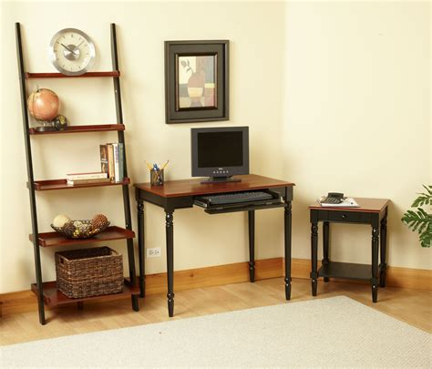 country home office furniture country 2 tone desk by convenience concepts inc