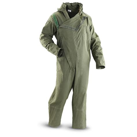 Qia Overal Dod Shop 2 2 used coveralls olive drab 182278 overall coveralls at sportsman s guide