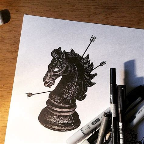 chess tattoo designs 30 best chess tatoo images on chess drawings