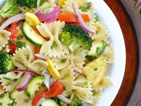 pasta salad vegetarian summer vegetable pasta salad budget bytes